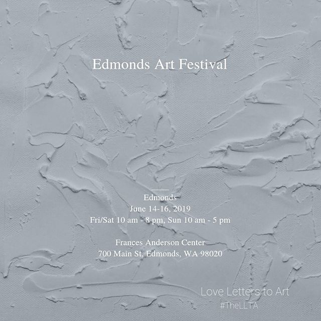 Head to the Edmonds Art Market if you are in Washington State this weekend. There is a juried exhibition and art sale. Visit our friend @daniellemcdowellart at booth #714 #edmondasartfestival #edmonds #pnwartist #artist #artfestival #curated