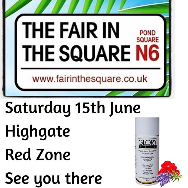 It's Friday ☺️ ⠀ ⠀ We're a day away from exhibiting at this year's Fair in the Square, N6 Highgate @fairinthesquare 🤗⠀ ⠀ If you're local, come along, say hello and grab some deodorant 👌🏽⠀ ⠀ Let's spread the love 😘⠀ ⠀ Happy Days ✌🏽⠀ ⠀ #Highgatefair⠀ #chemicalsensitivity ⠀ #chemicalsafety⠀ #plantbasedliving ⠀ #plasticfree⠀ #investinyou #loveyourskin #plantpoweredbeauty #naturalbeautyproducts #loveyourpits #freedomofpits #chooseyou #gonatural #vegancommunity #whatsinsidecounts #takecareofyourself #natureinspired ⠀ #cleanbeauty #crueltyfree #toxicfree #chemicalfree⠀ #wisewords #girlboss ⠀ #supportwomeninbusiness #womenpreneur