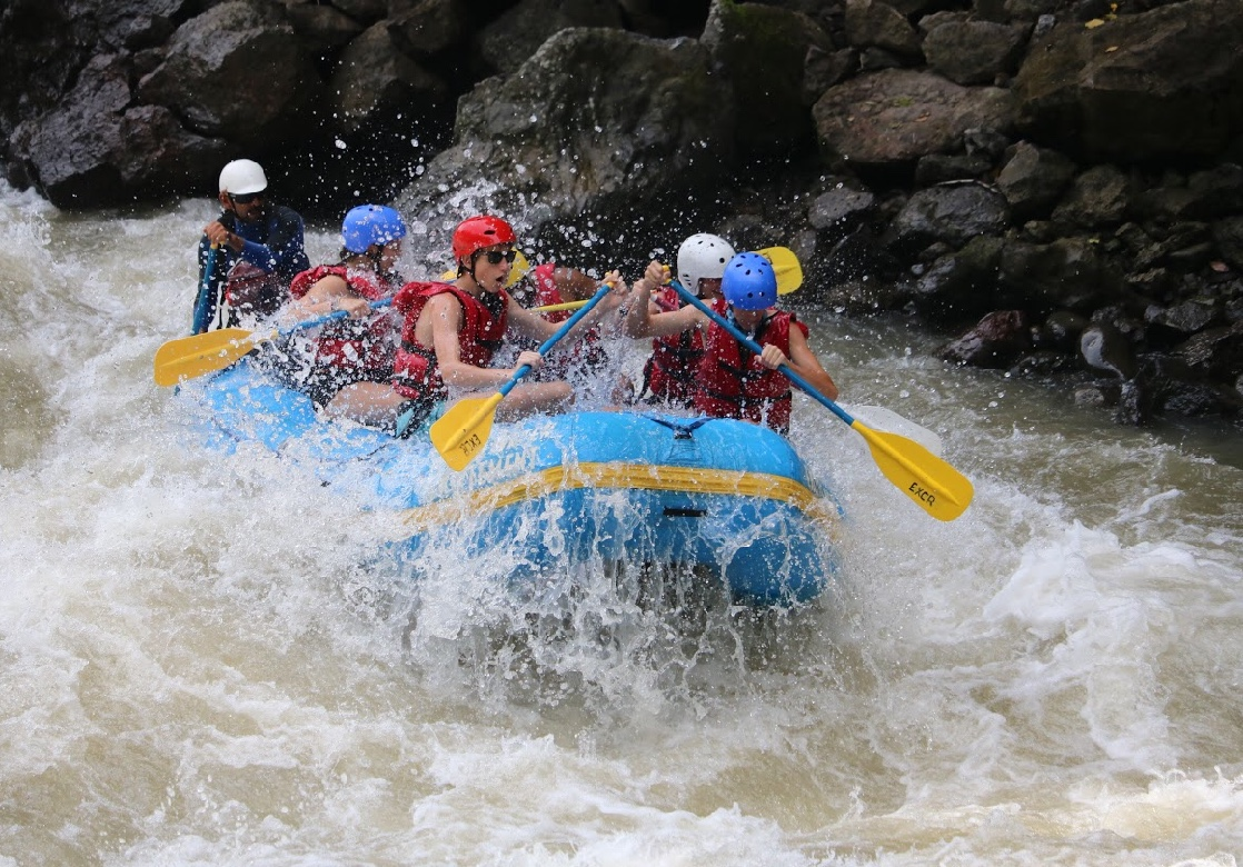 This picture is when we went white water rafting in Costa Rica.