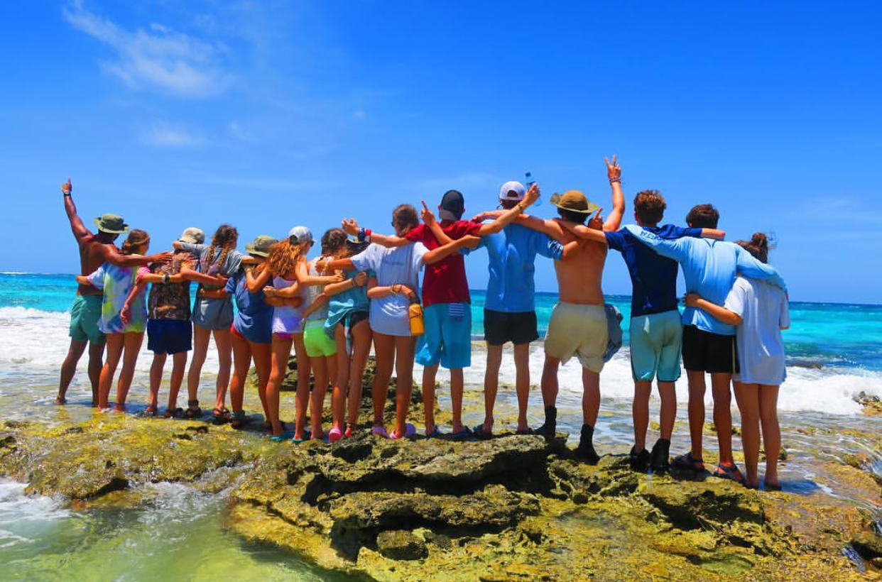 This photo shows my entire group in Belize.