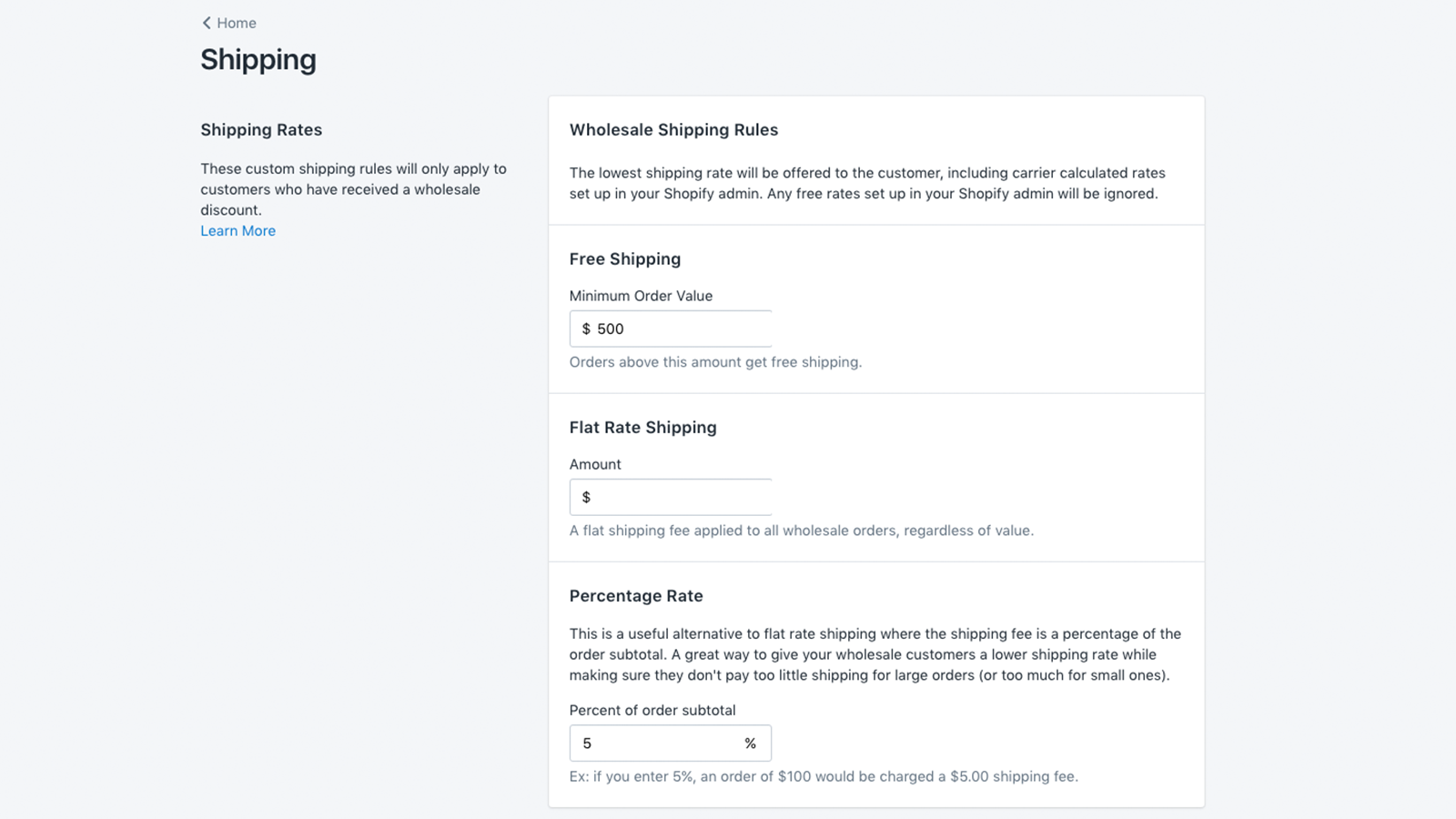 Highly customizable. - Say hello to custom shipping rules! Don't let the easy interface fool you, our app is packed with more features than any wholesale app on Shopify.