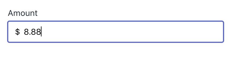 4. Enter an Amount -
