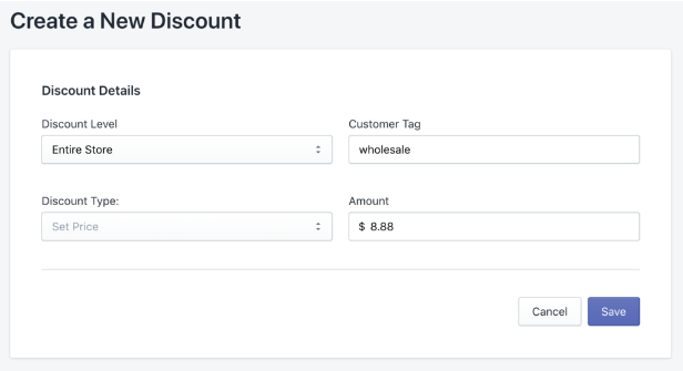 Here is what your discount rule would look like following our example.
