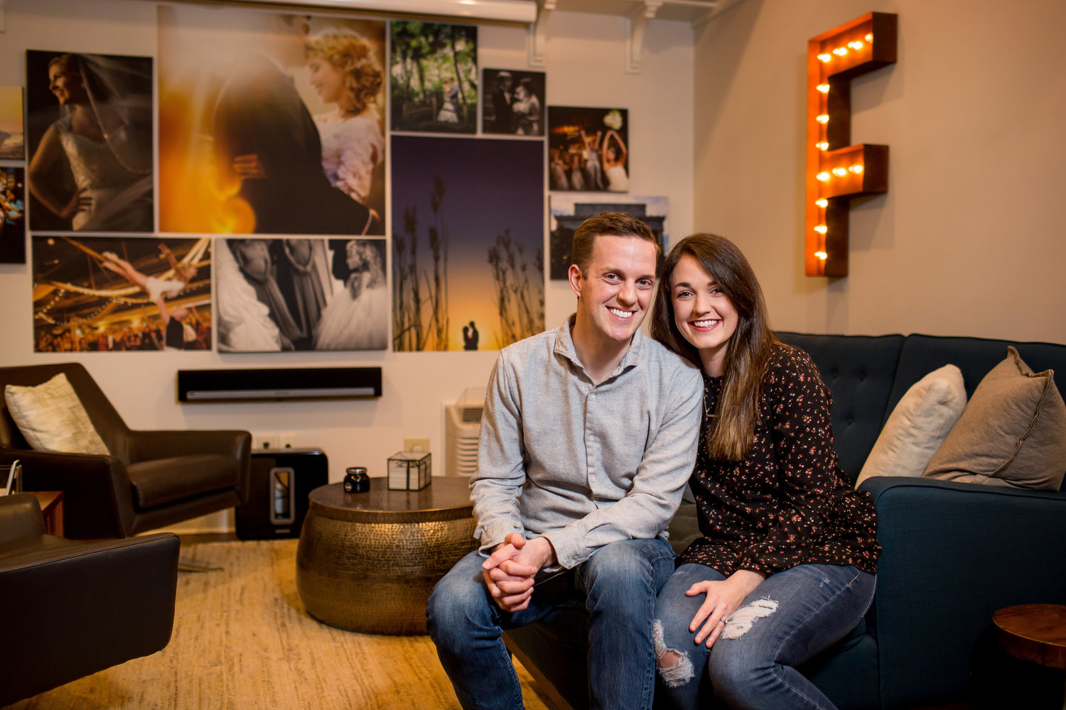 Robby and Jess Followell in the Followell Fotography Studio. Photo by Chase Rich.