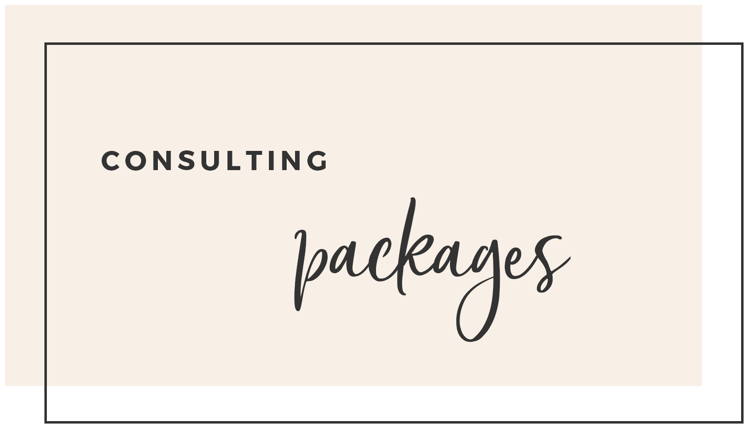 Consulting Packages