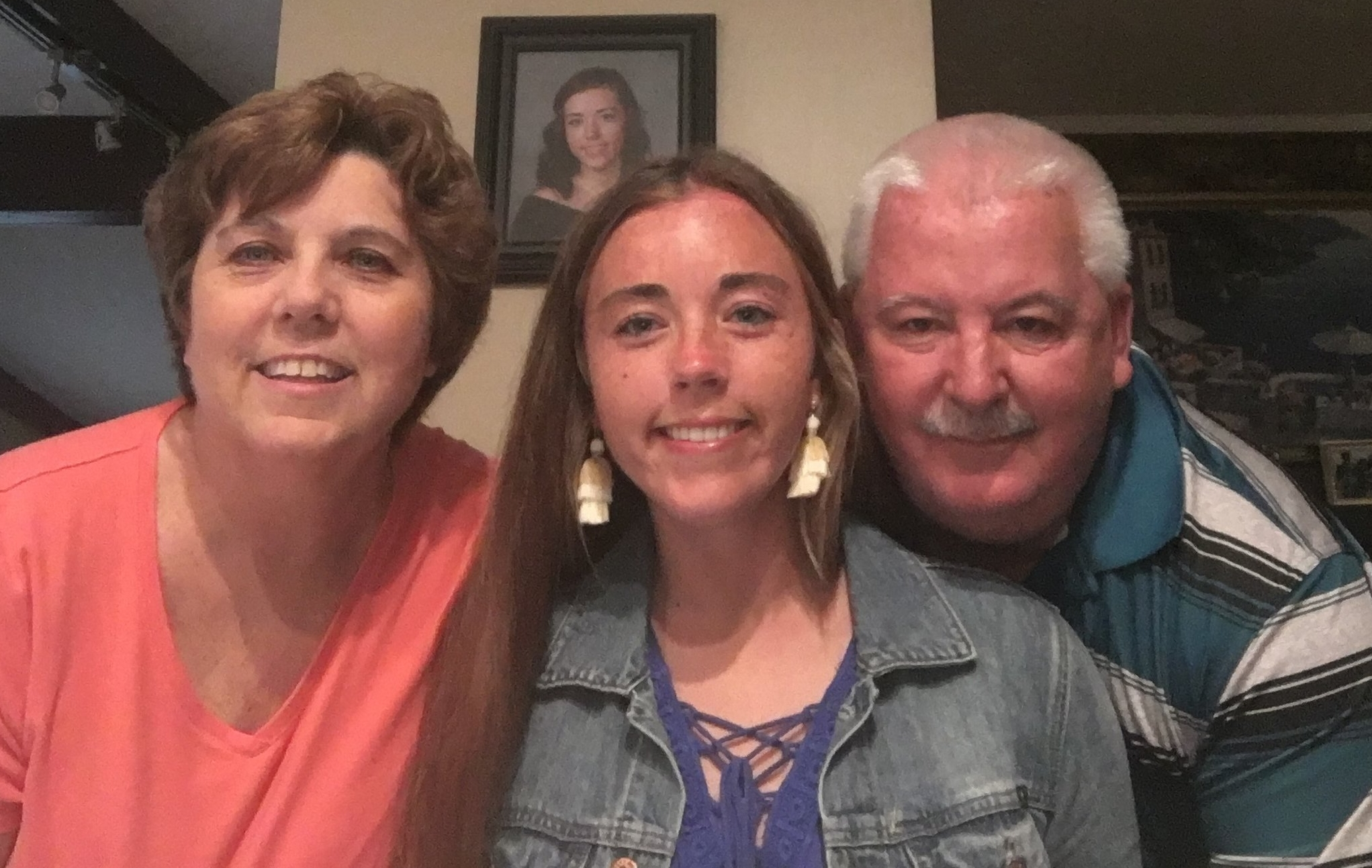 Angie Hilen with Mom Sue and Dad John