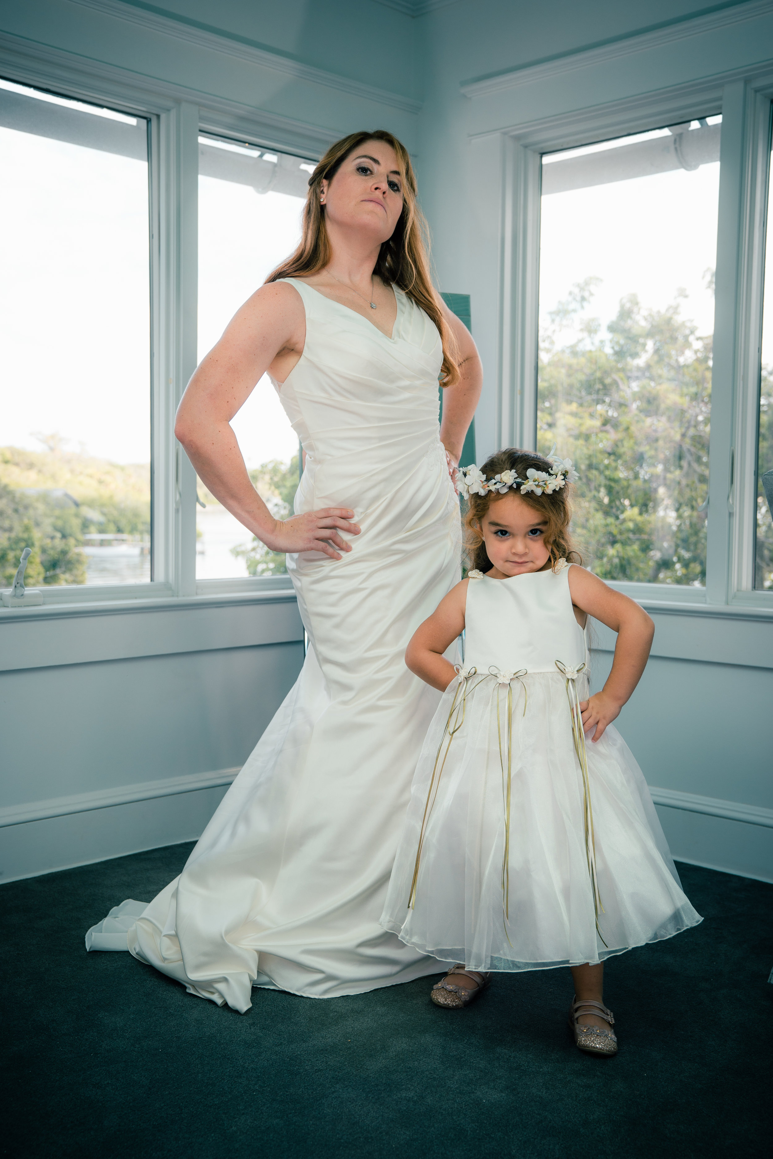 When you borrow your BFF's daughter because you need a flower girl who is a badass.