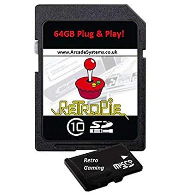 64GB RetroPie MicroSD Card