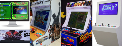 L-R:  Pandora's Box ,  Mini Arcade Systems  &  Polycade