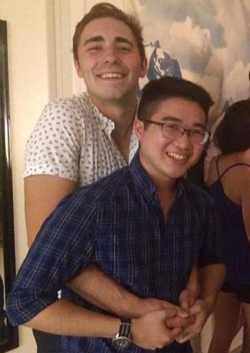 """Sam """"Good Cop"""" Parker (left) with Anthony """"Bad Cop"""" Nguyen"""