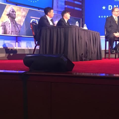 Debate moderators: Lydia Polgreen, Huffington Post editor-in-chief and Ryan Grim, Huffington Post Washington bureau chief