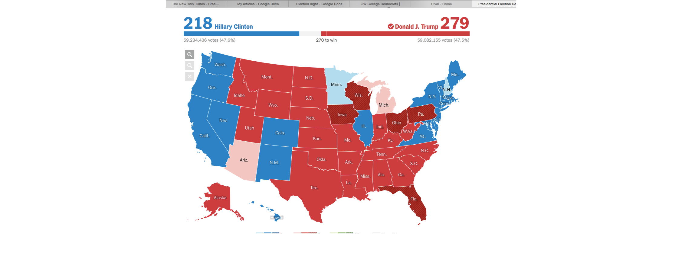 Final results from the NY Times.