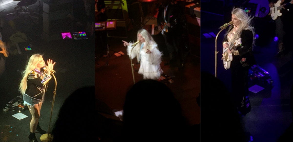Kesha's outfits throughout the concert