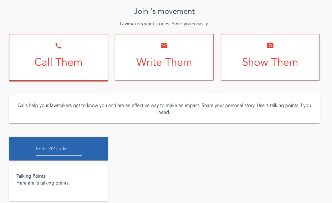 This is how you use the software to join a movement.