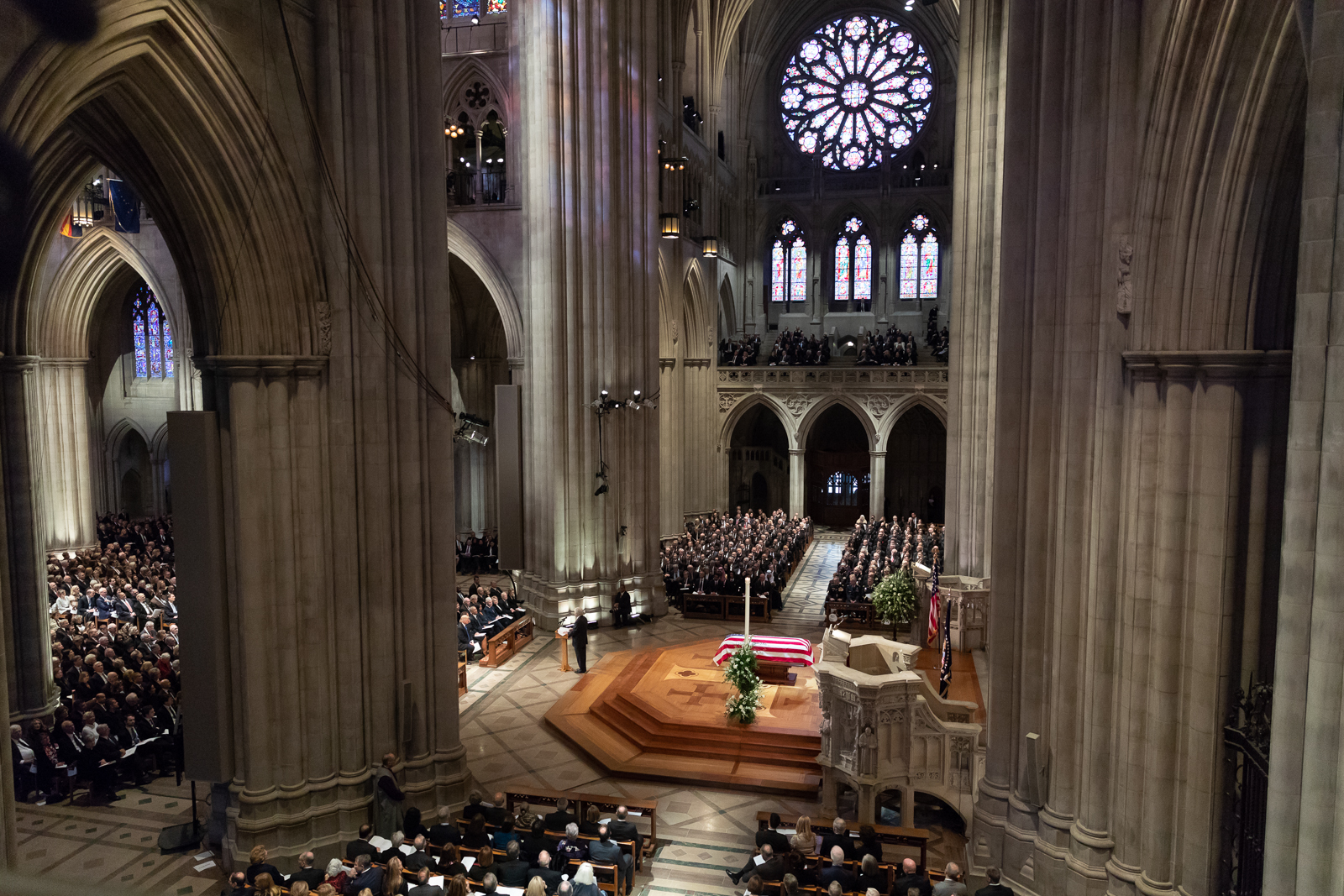 Bush's state funeral inside the National Cathedral. Photo via The White House.
