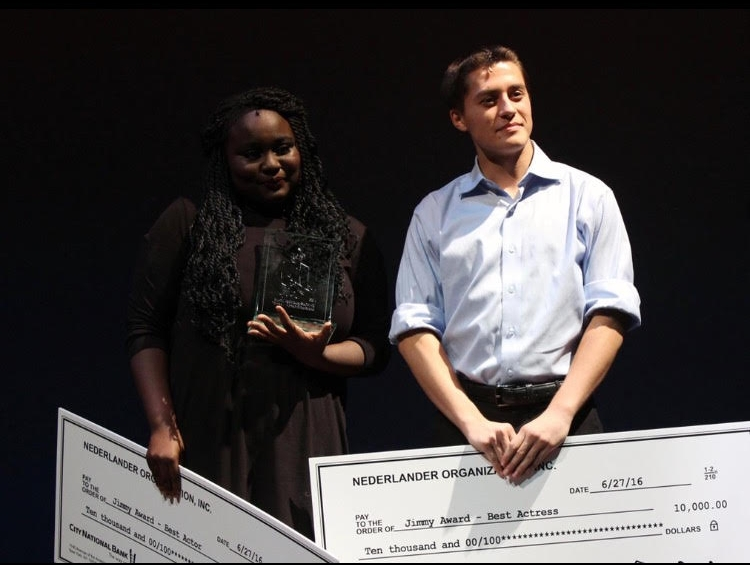 With Amina Faye at the 2016 Jimmy Awards during the Final Award Ceremony