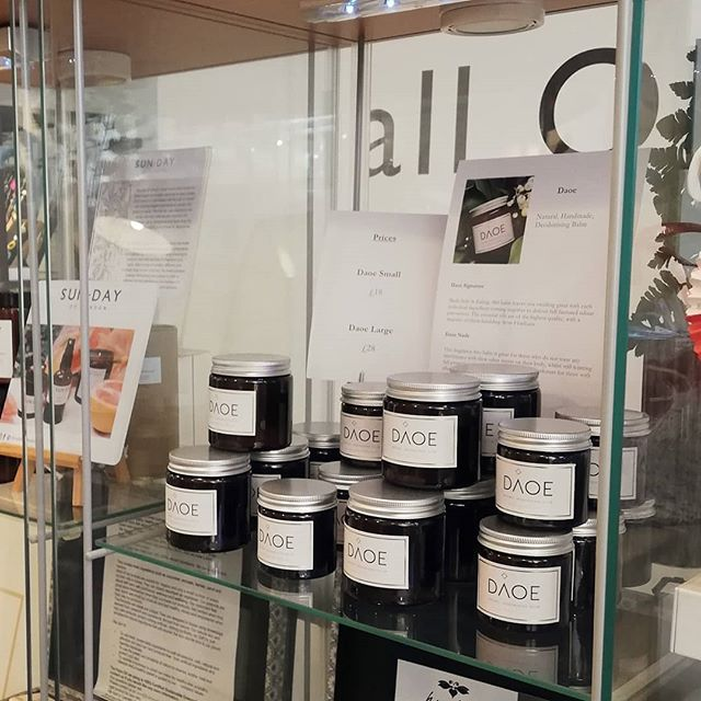 Daoe is in its first shop! 🎉 Thank you to the wonderful @alloriginal2017 for continuing to support local business and stocking some truly wonderful things. Get yourselves down here kids, it's really cool. . . . . . #daoe #daoecosmetics #localbusiness #shoplocal #naturalbeauty #naturaldeodorant #alloriginalealing #Ealingbusiness #giftideas #madeinbritain #beauty #environmentallyfriendly #londonbusiness #westlondon #westisbest #health