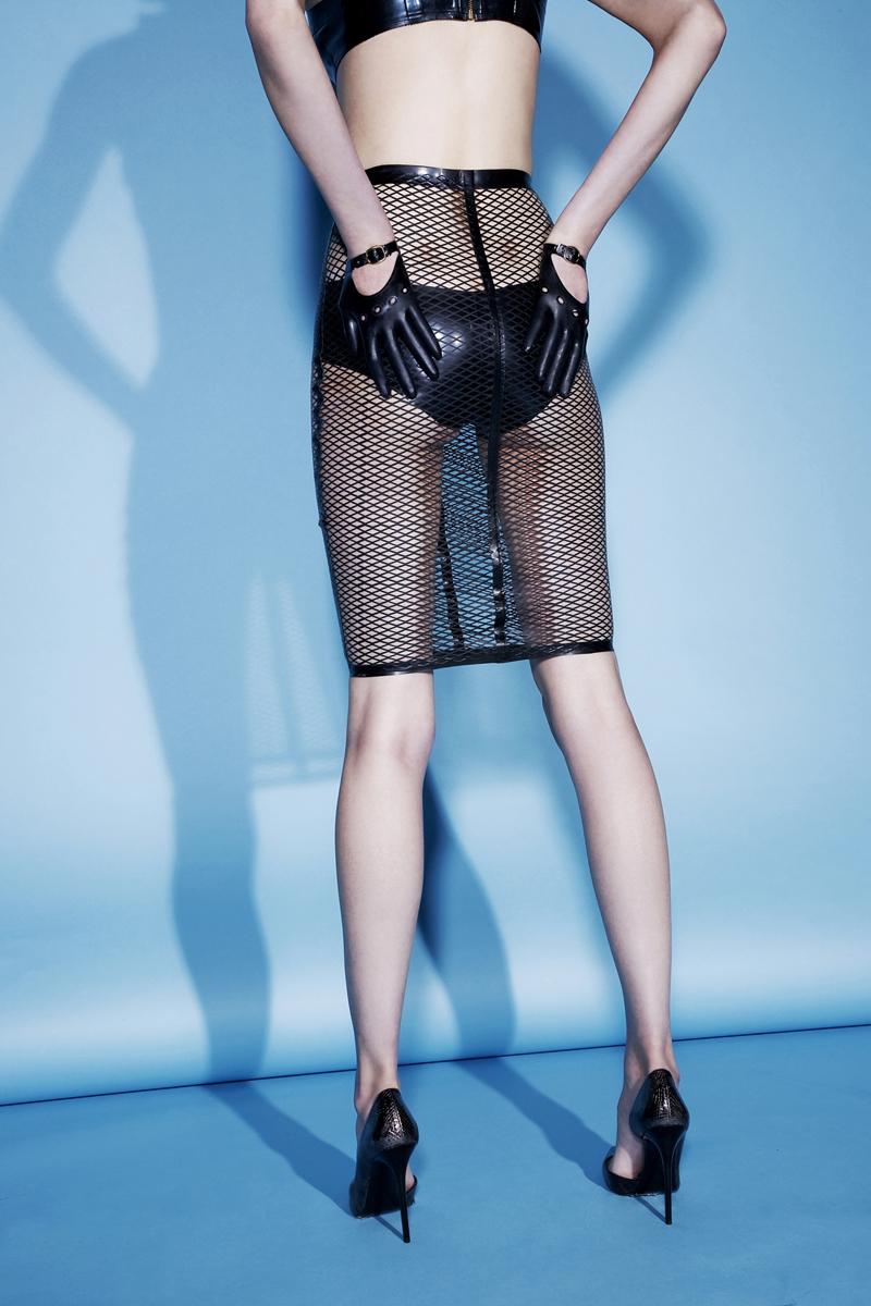 Bra, gloves and brief all Tableux Vivants, Collar  Vex, Skirt  Voyeur by Vex