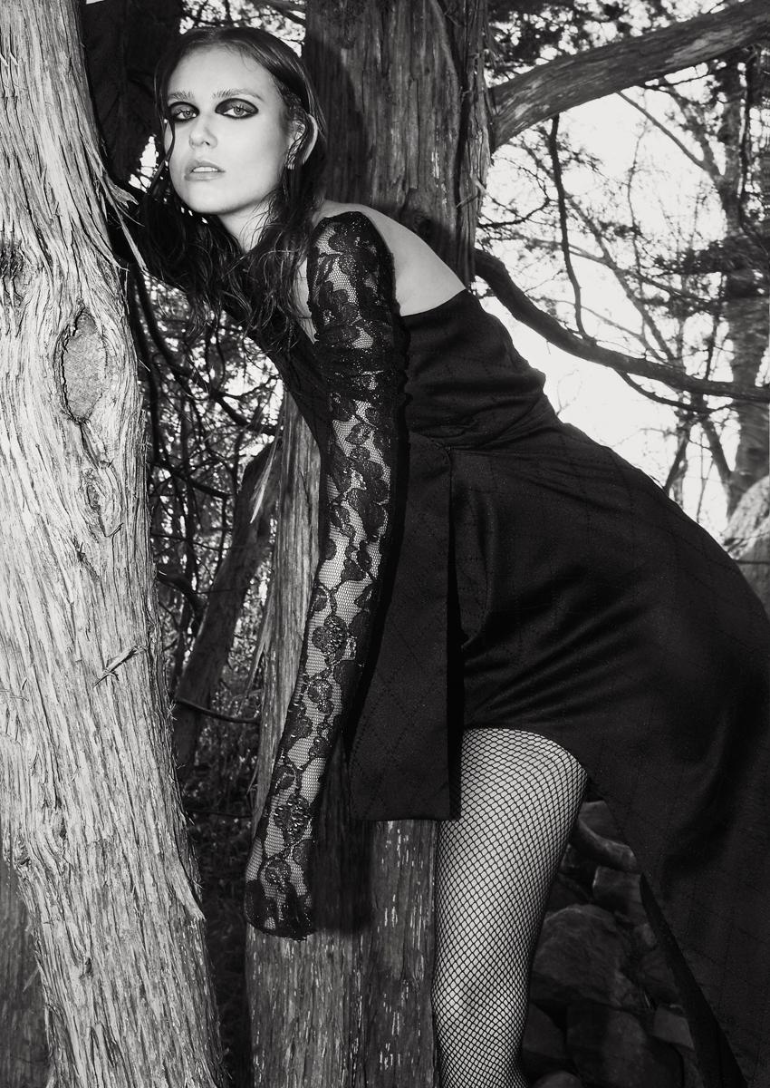 Dress  Breelayne , Gloves  Garo Sparo for LaCrasia,  Models own vintage  Jimmy Choo boots , Tights  stylist archives