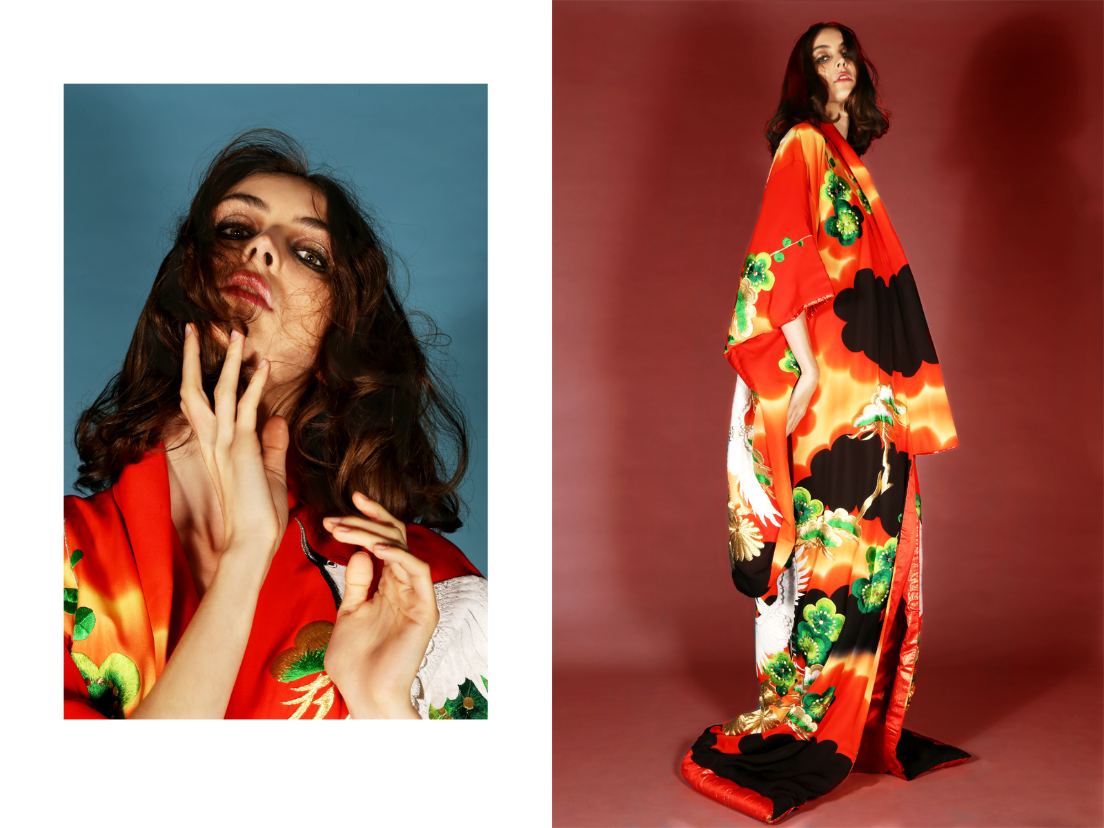 silk kimono  cheng,  heels  giuseppe zanotti
