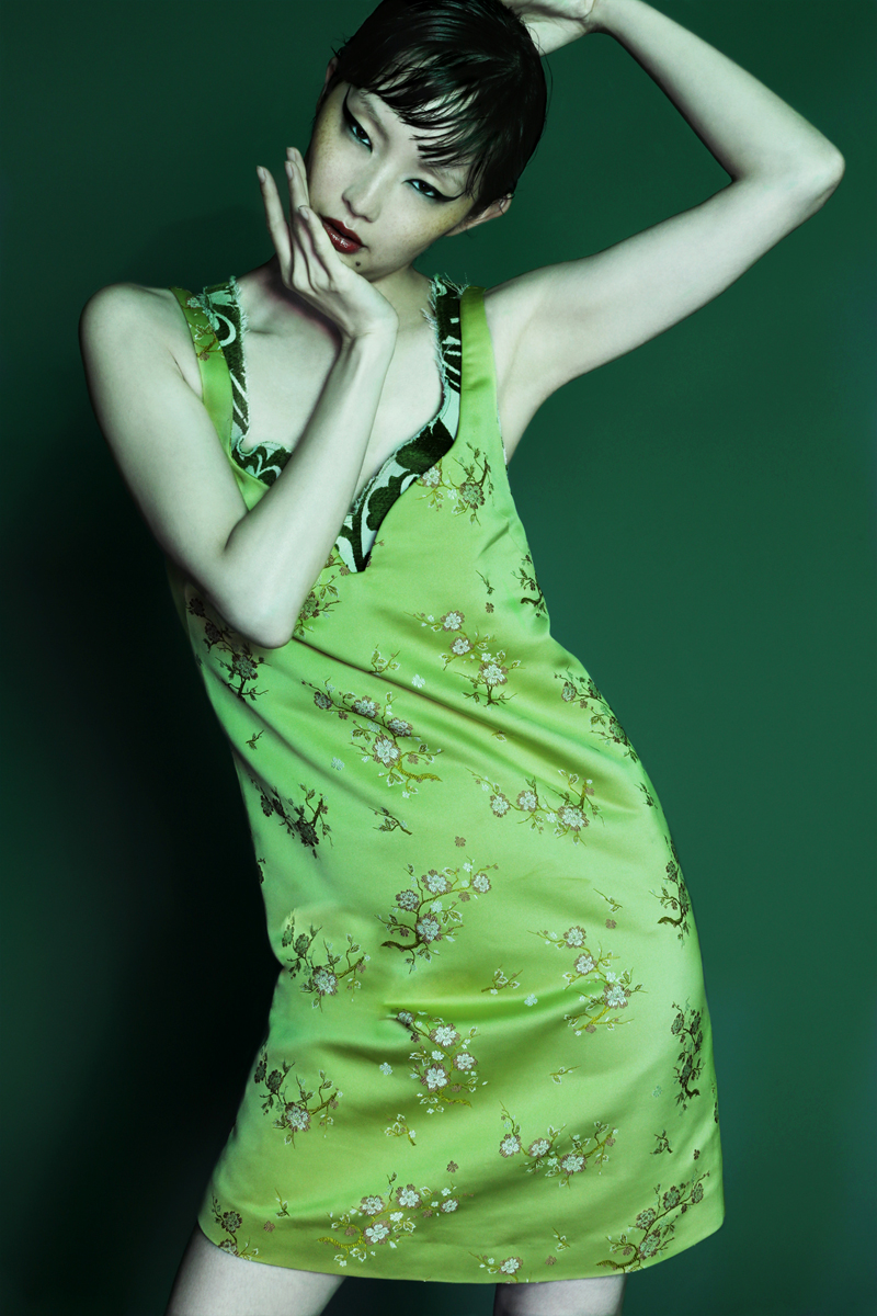 embroidered dress by  kenzo