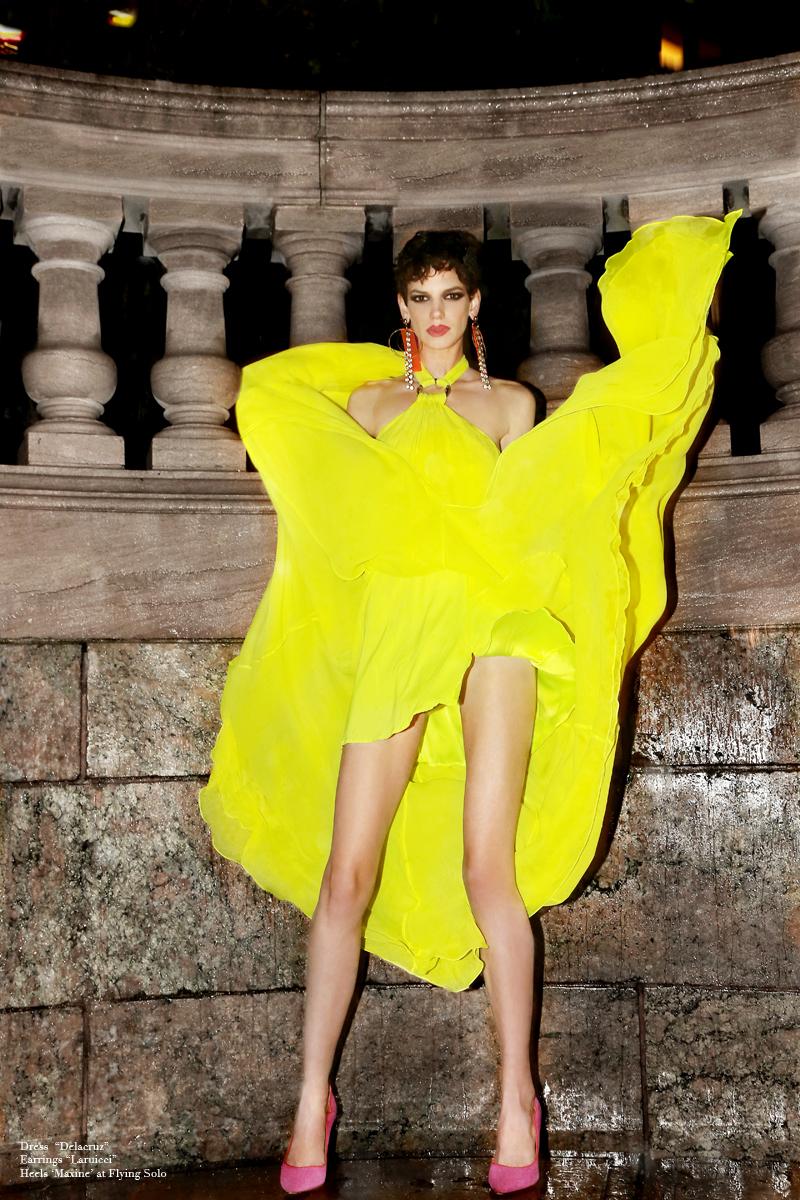 Dress by  Delacruz,  Earrings by  laruicci,  Heels By  Maxine at Flying solo