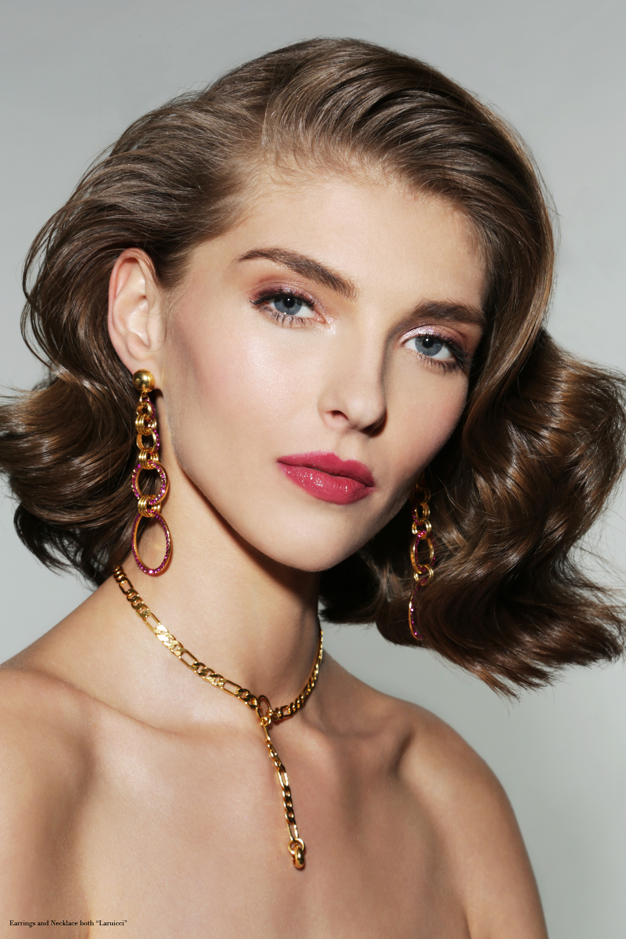 Earrings and Necklace by  Laruicci