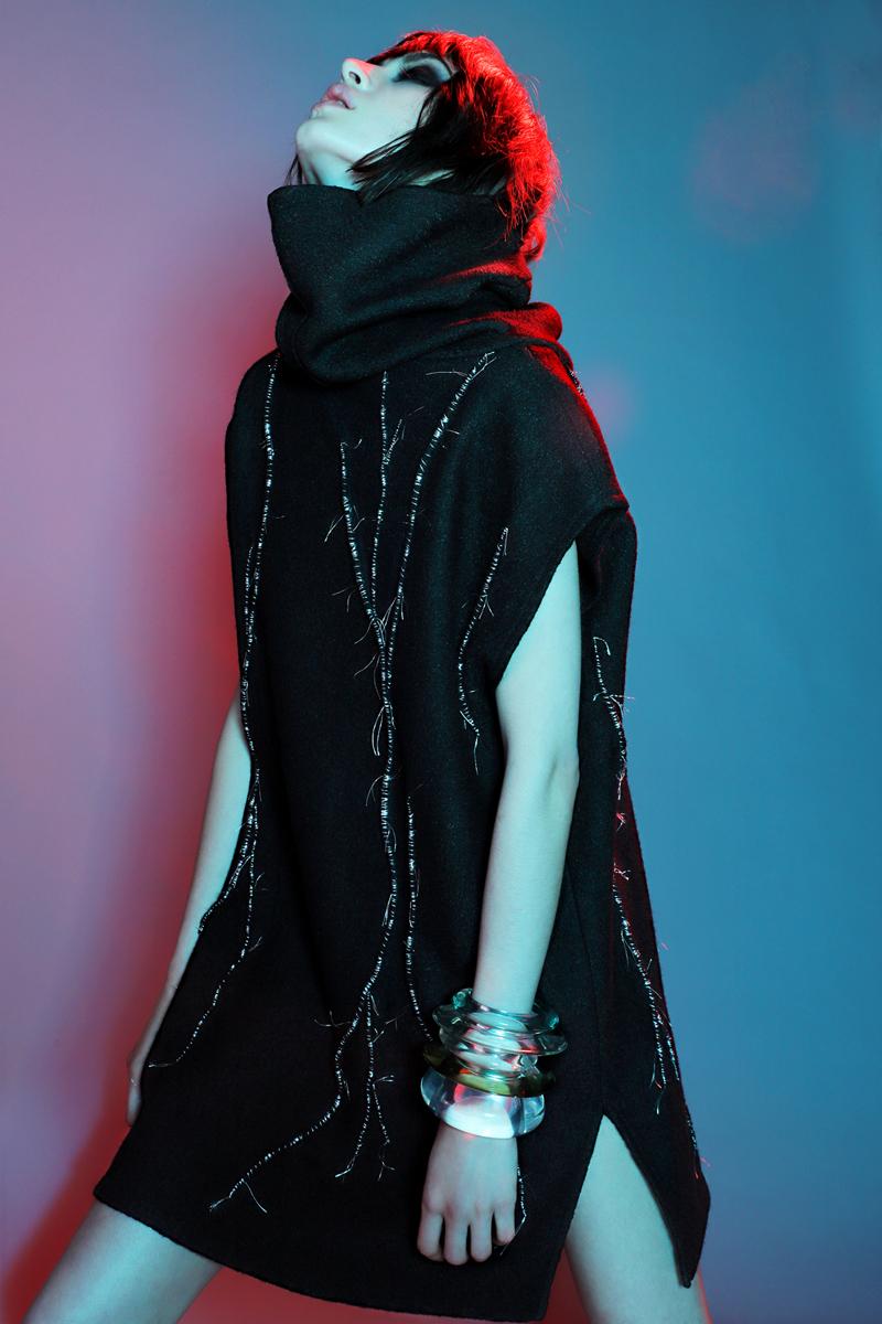 Sweater Dress by  KQK,  Bracelets by  Lizzie Fortunato