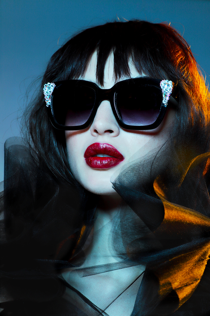 Sunglasses by  ARTBULLYKLR at Flying Solo,  Black Top by  9 to 5 Socialite at The Confessional Showroom