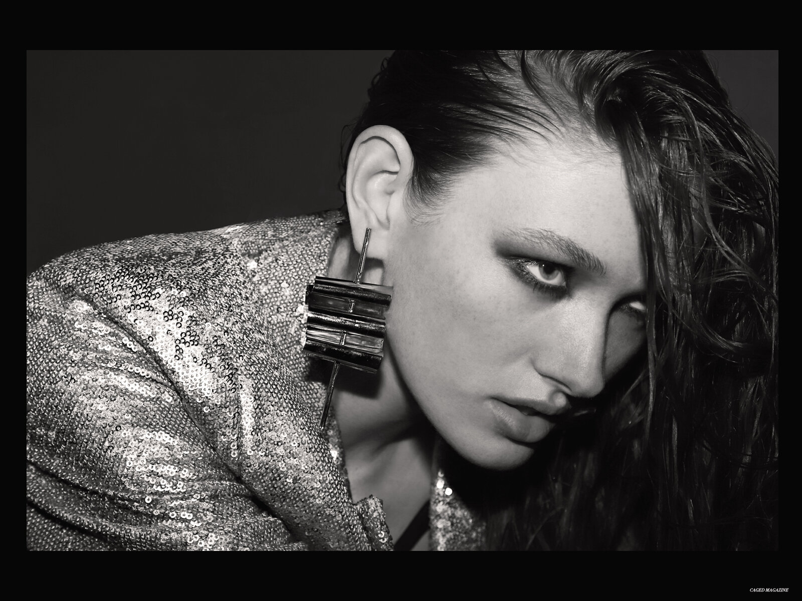 Earrings by  IZA BY SILVIA D'AVILA at Flying Solo,  Blazer by  Jonathan Simkhai at Intermix