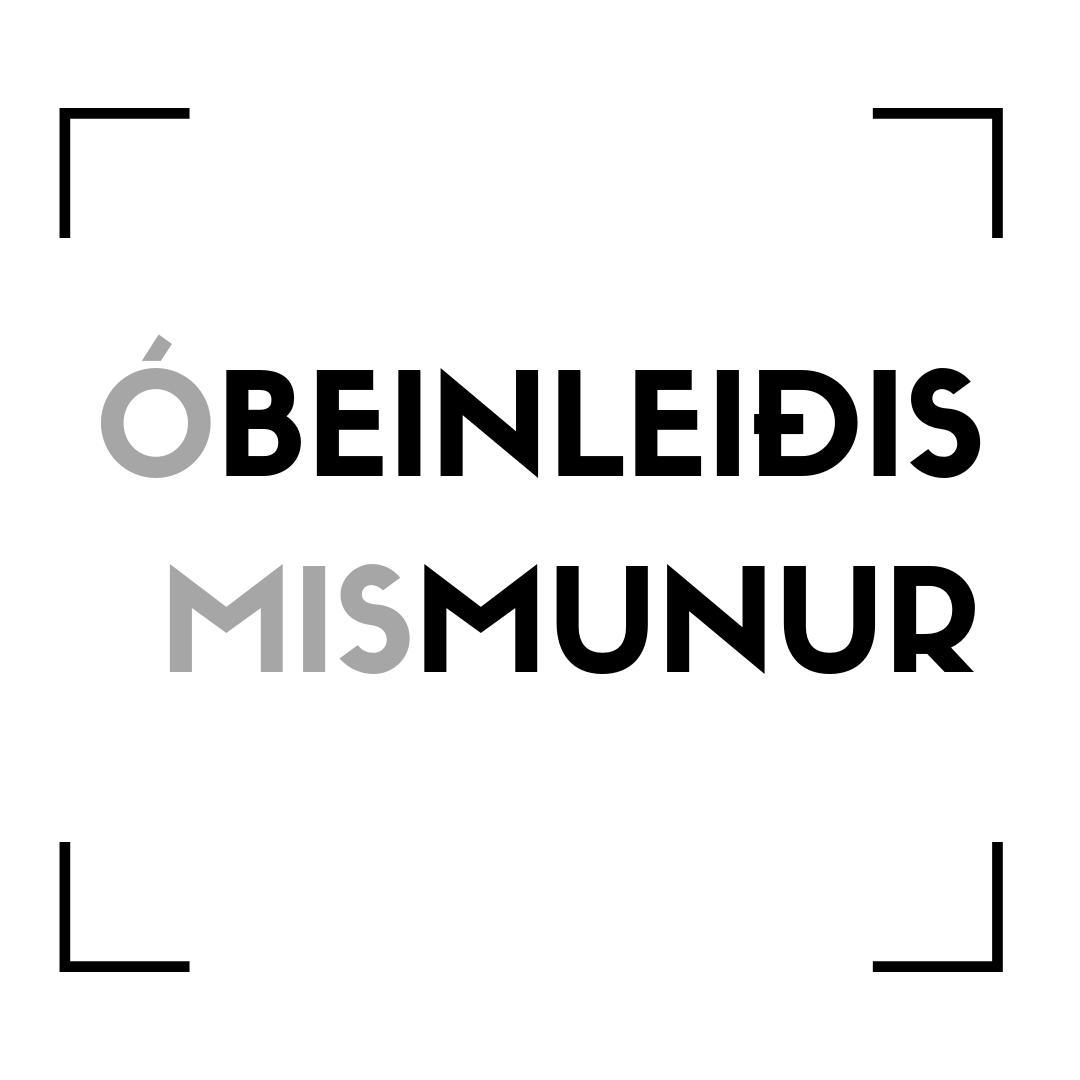 Beinleiðis og óbeinleiðis mismunur - Í Javnstøðulógini stendur, at IKKI er loyvt – hvørki beinleiðis ella óbeinleiðis – at gera mismun á fólki vegna kyn, §2 stk.2, men hvat merkir beinleiðis og óbeinleiðis mismunur ella diskriminering?
