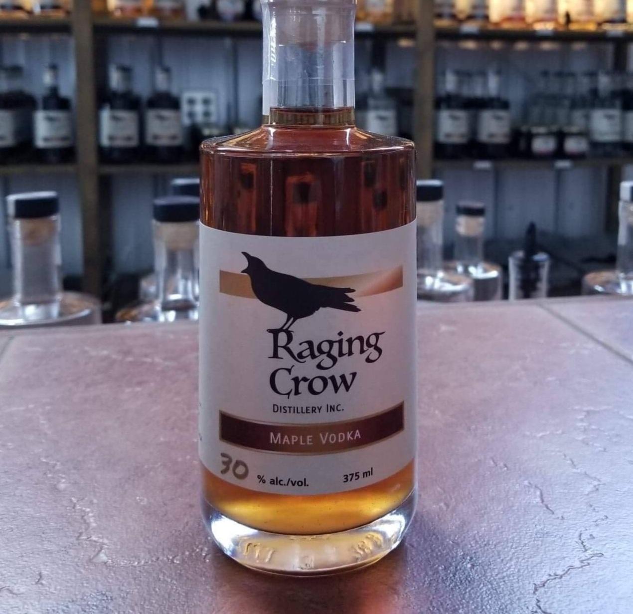 Maple Vodka Cocktail - 1.5 oz Raging Crow Maple Vodka1 oz Raspberry/Cherry/Strawberry Liqueur3 oz Orange Juice
