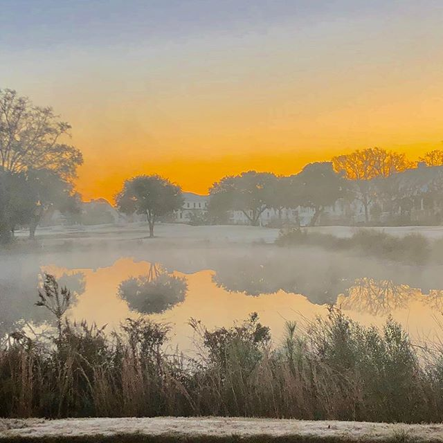 Sunny side up kind of day.  #babyitscoldoutside #fog #winterincharleston #christmasfog #hallelujah #sunriseoftheday