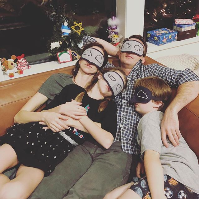 All the stockings were hung by the chimney with care.....as we snoozed thru the night with our #allbirds stare. @allbirds eye masks are the way to go! Wouldn't want Santa to think we were peeking!!! #nopeeking #twasthenightbeforechristmas #snooze #eyemask #andtoallagoodnight
