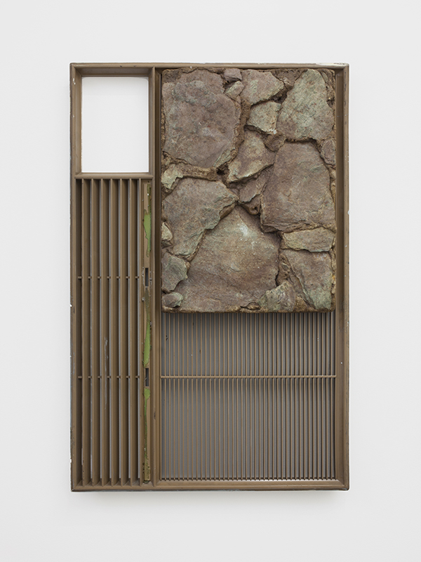 Pass   2012  vent cover with rocks  23.5 x 15.5 x 2 inches  Photo: Cathy Carver