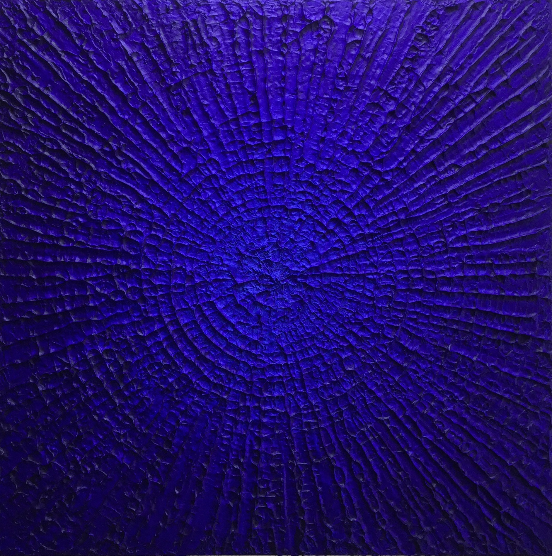 Texture And Blue Acrylic On Board (Framed) - £295