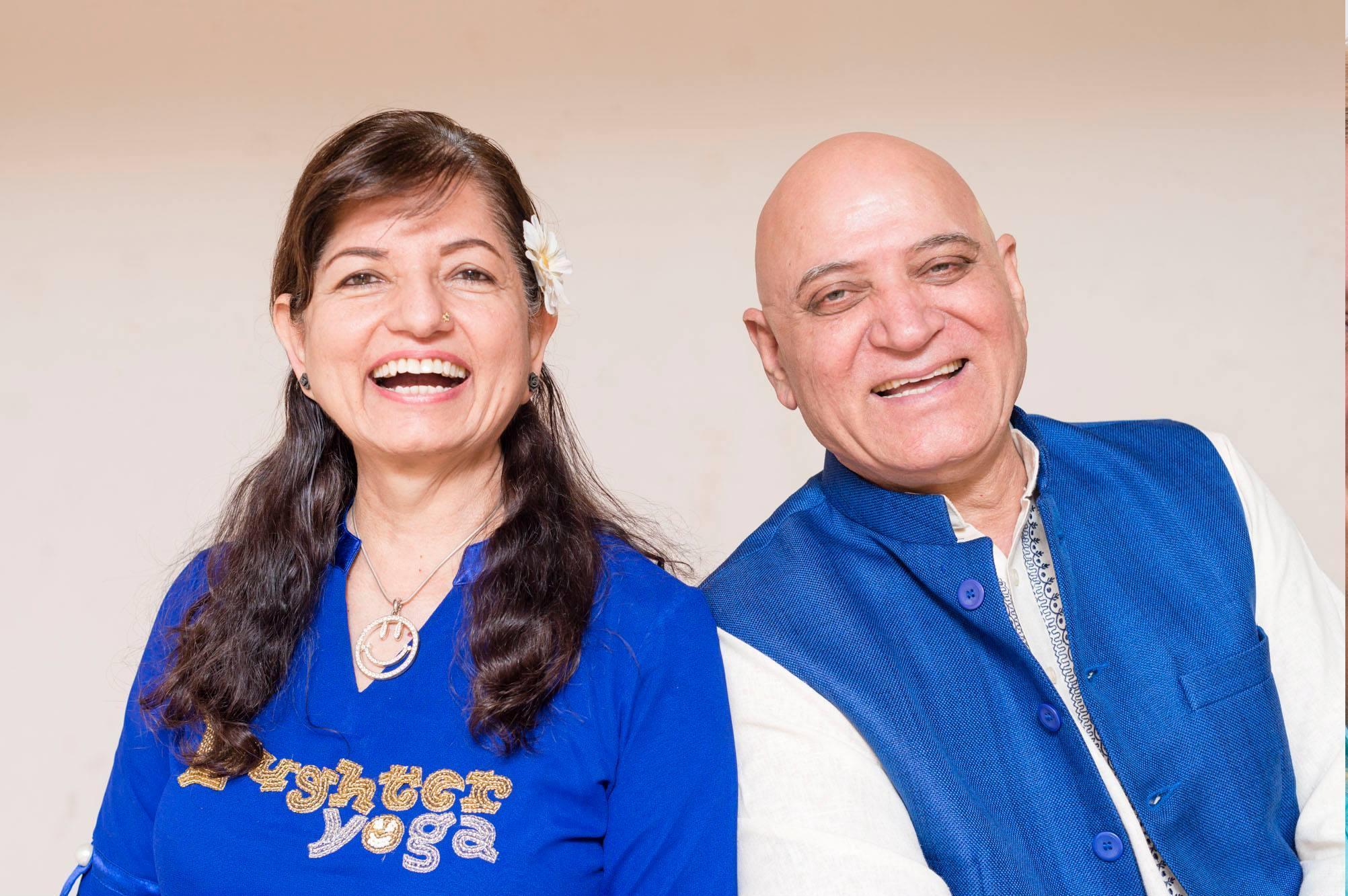 Madhuri & Dr. Madan Kataria, founders of the global laughter yoga movement.