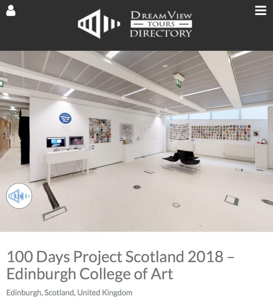 3D Tour - This link will take you to the Dreamview Directory website where you will be able to access a 3D Scan of the exhibition.