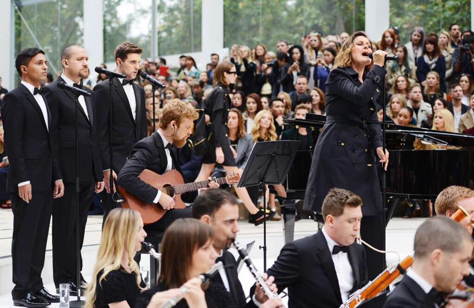 LCV backing vocalists with Alison Moyet for Burberry SS16, London Fashion Week