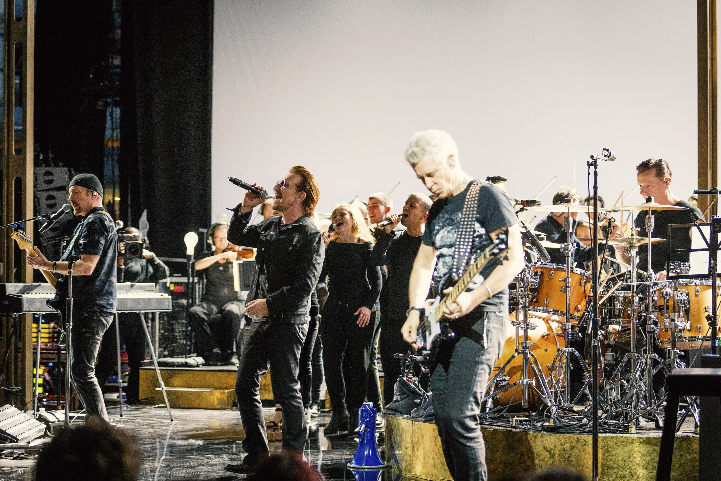 WARNING: Embargoed for publication until 10:00:01 on 05/12/2017 - Programme Name: U2 At the BBC  - TX: n/a - Episode: n/a (No. n/a) - Picture Shows: **Strictly Embargoed until 10:00:01 05/12/2017** U2 - (C) BBC  - Photographer: Guy Levy WARNING: Embargoed for publication until 10:00:01 on 05/12/2017 - Programme Name: U2 At the BBC  - TX: n/a - Episode: n/a (No. n/a) - Picture Shows: **Strictly Embargoed until 10:00:01 05/12/2017** U2 - (C) BBC  - Photographer: Guy Levy