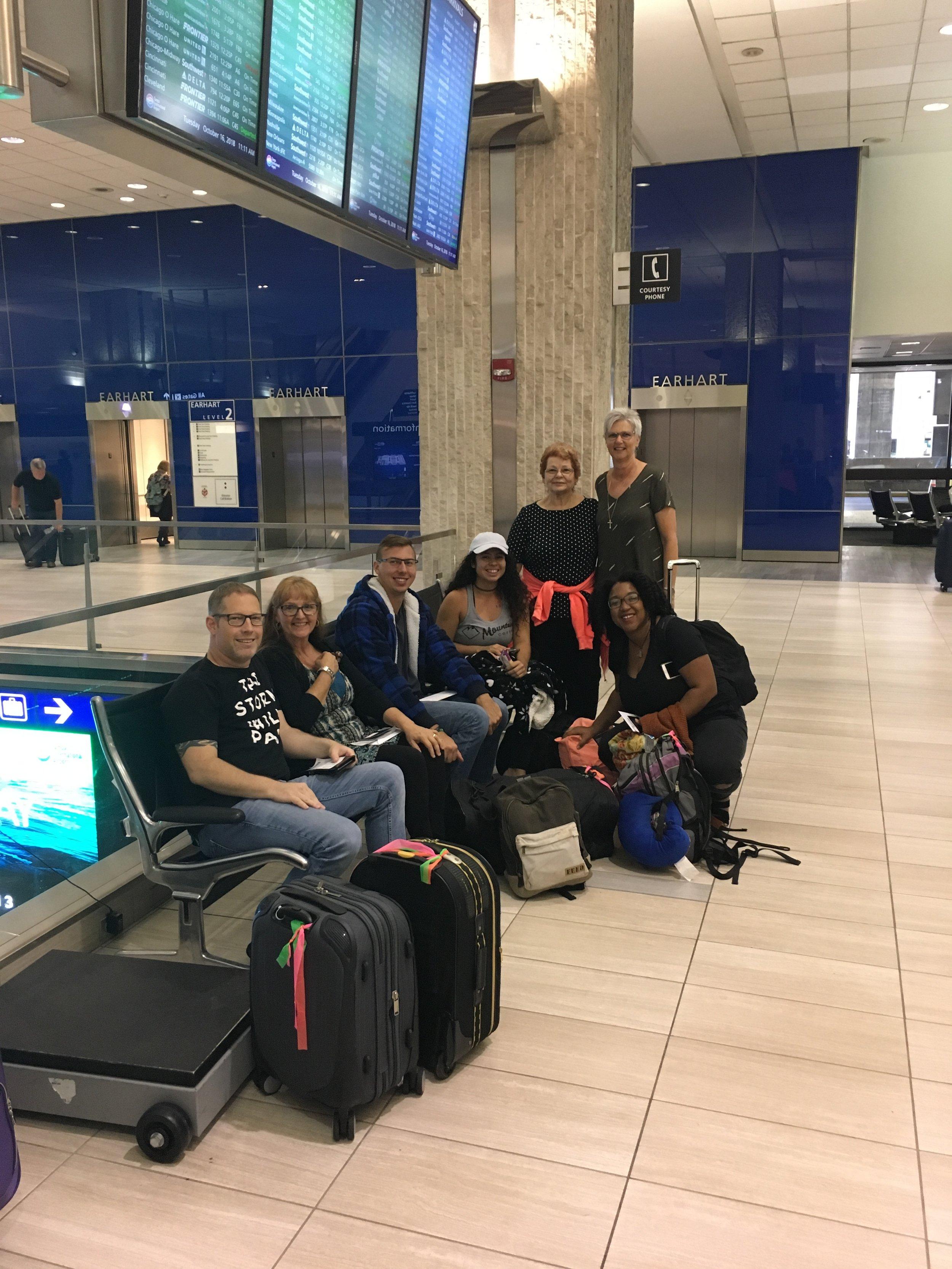 The Kenya Team at Tampa International Airport