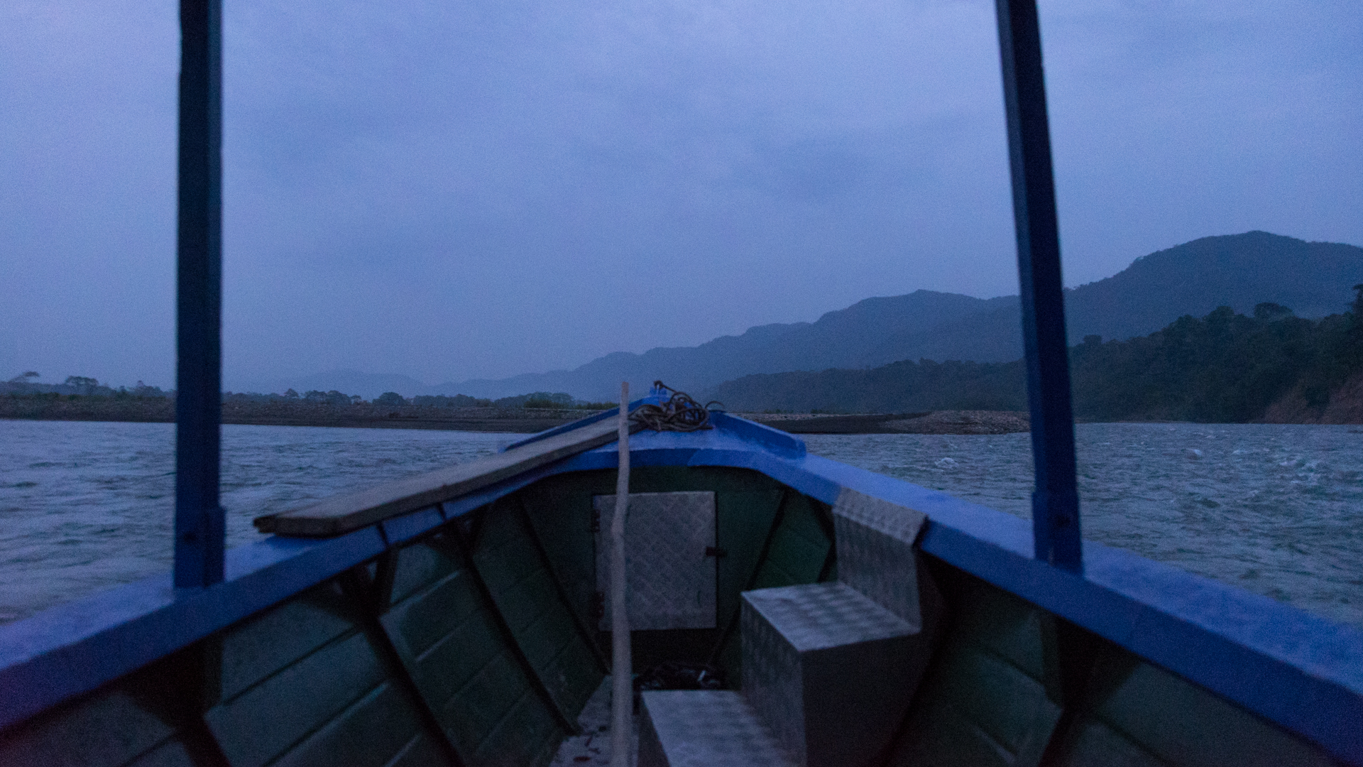 Navigating up river in raining days.