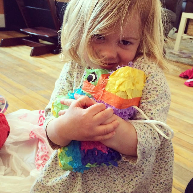 My Saver wants to save her birthday pinata from being smashed.
