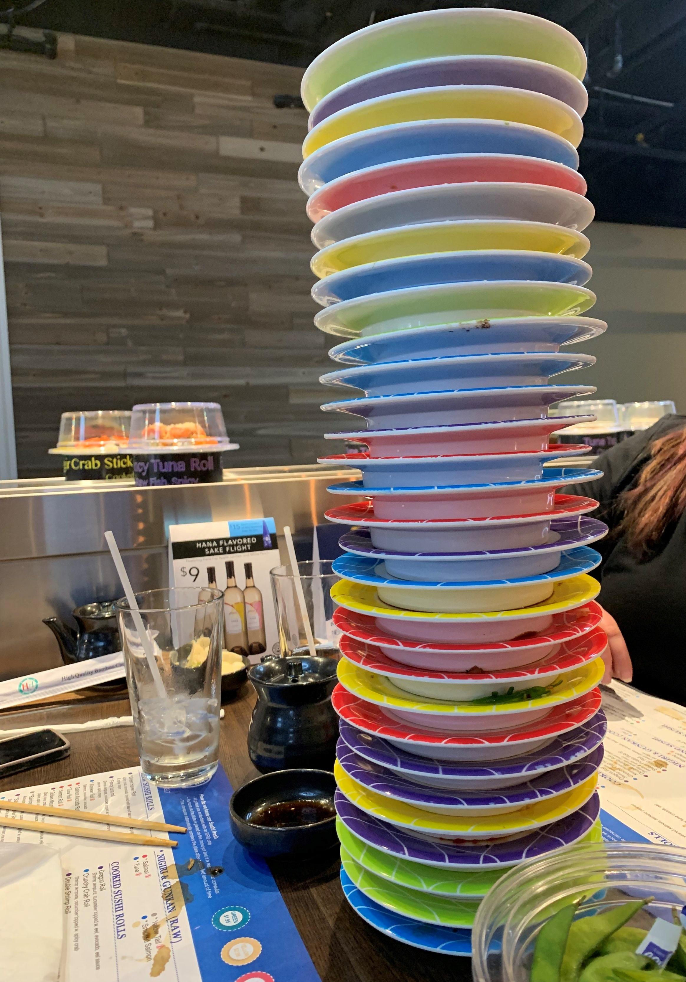 30 plates tall!