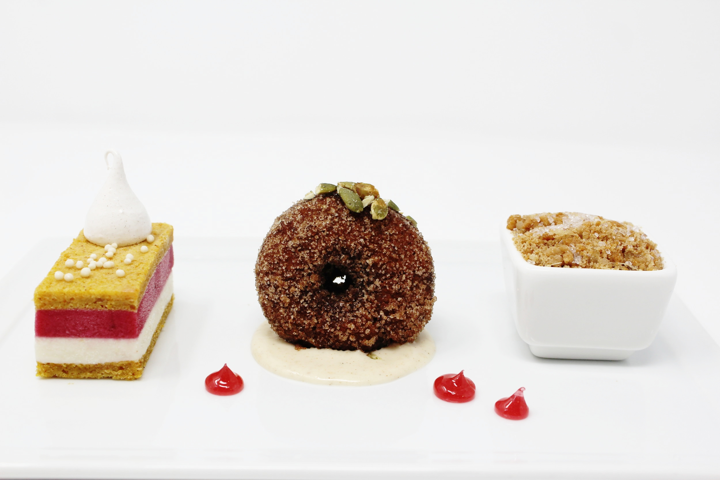 A sampling of Ziegfeld Ballroom's beautiful desserts.