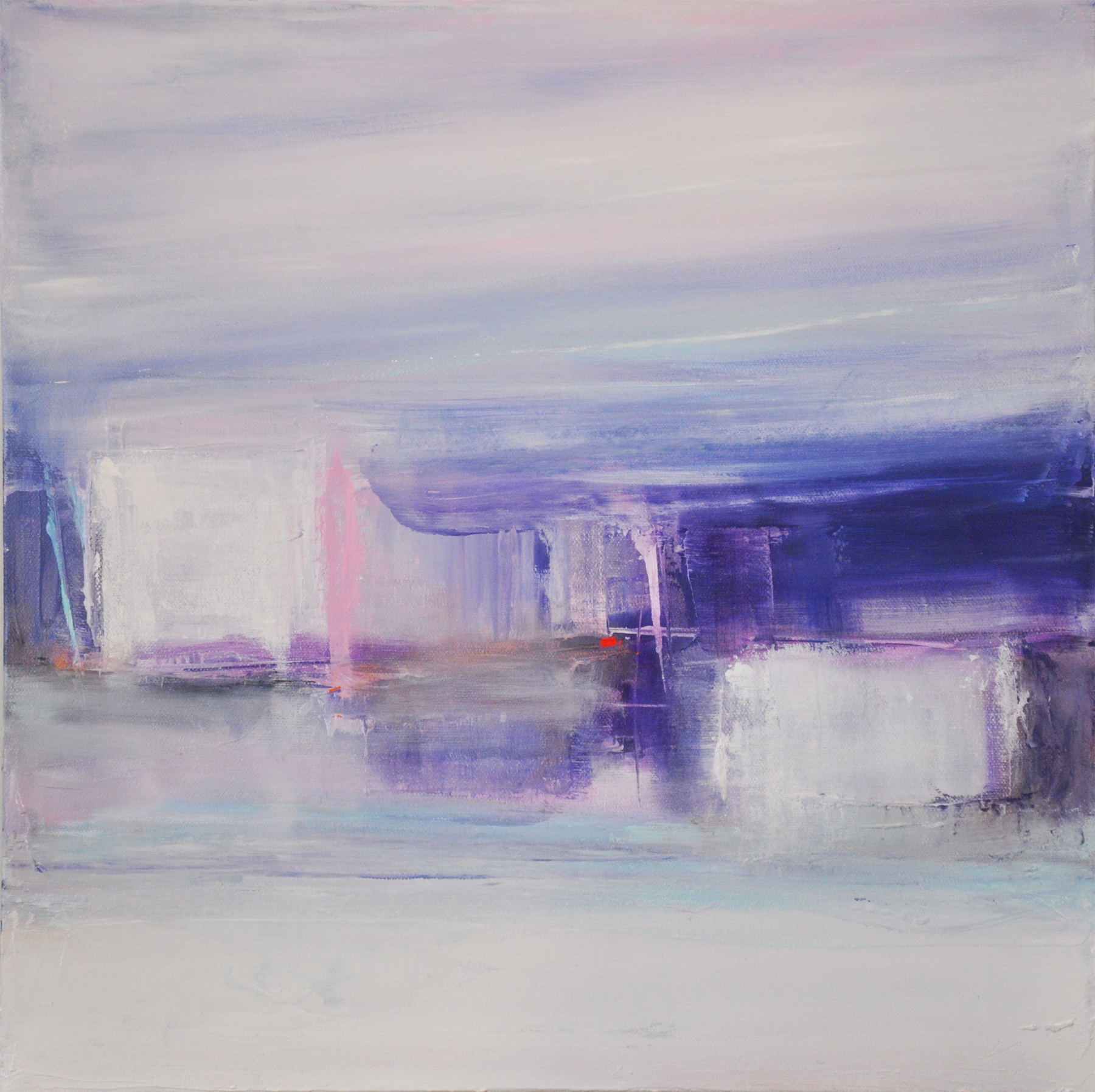 Beatrice Dauge Winter II oil 16x16 inches framed 2013