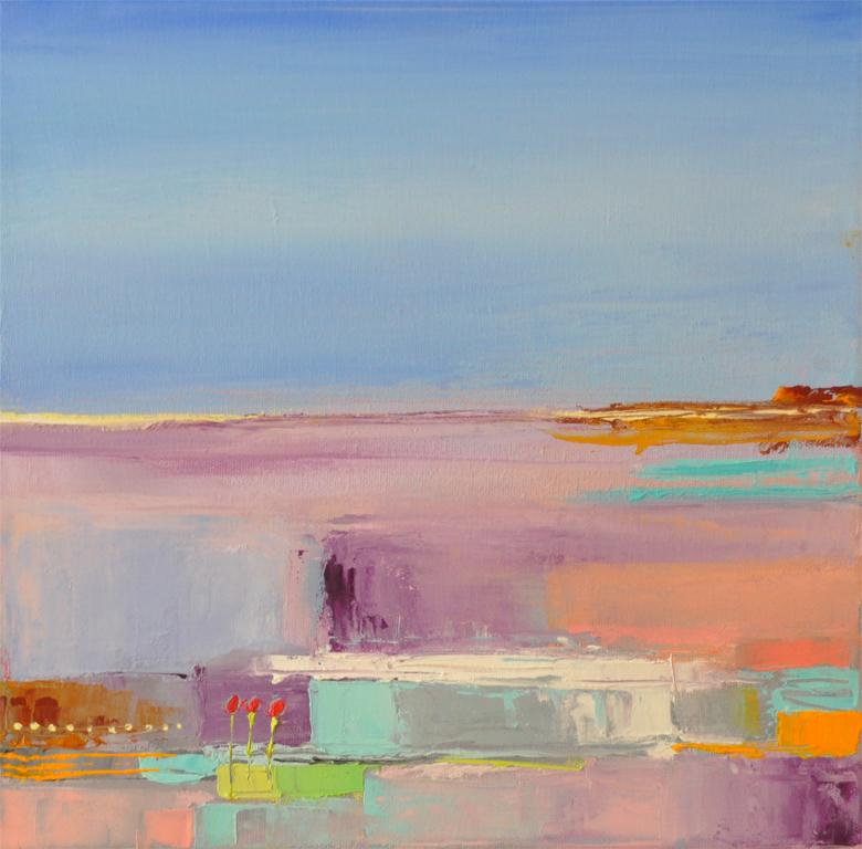 Sea Coast, oil on canvas, 12 x12 inches, SOLD