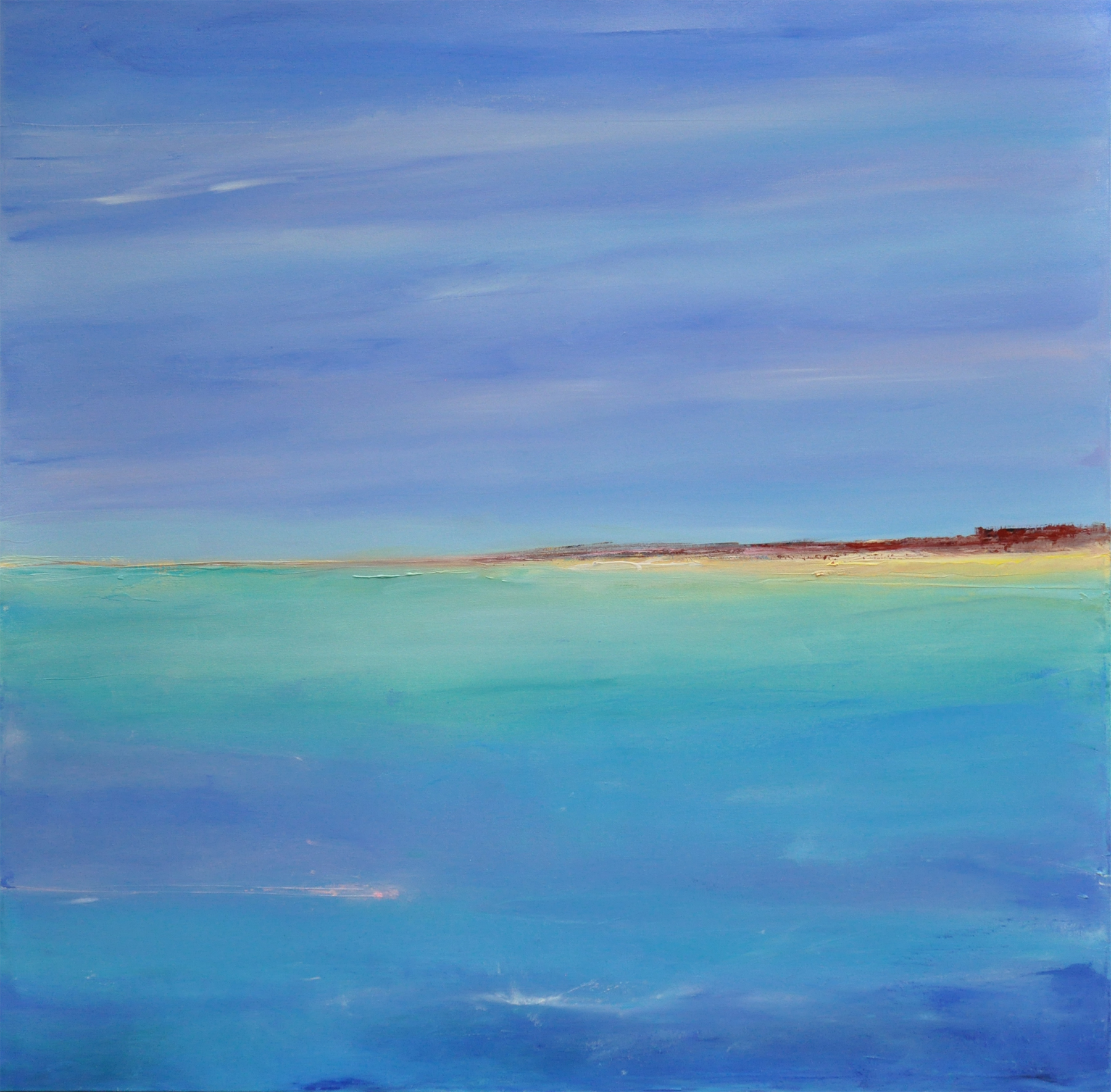 DUNE ON THE CAPE, oil on canvas, 36 x 36 inches, SOLD