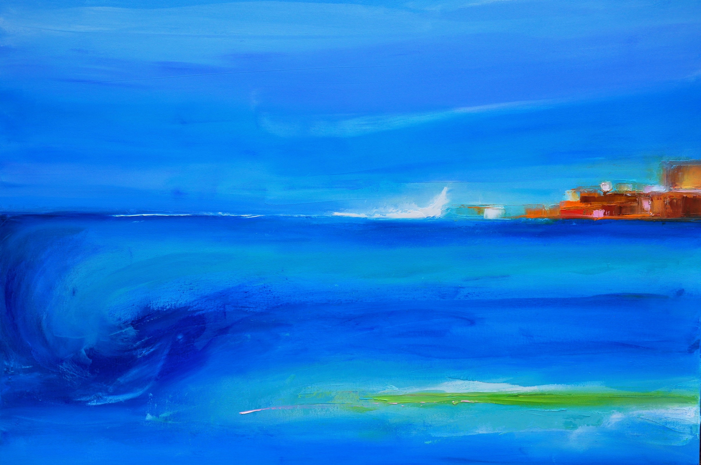 La Mer, oil on canvas, 30 x 40 inches, U$ 1900.-