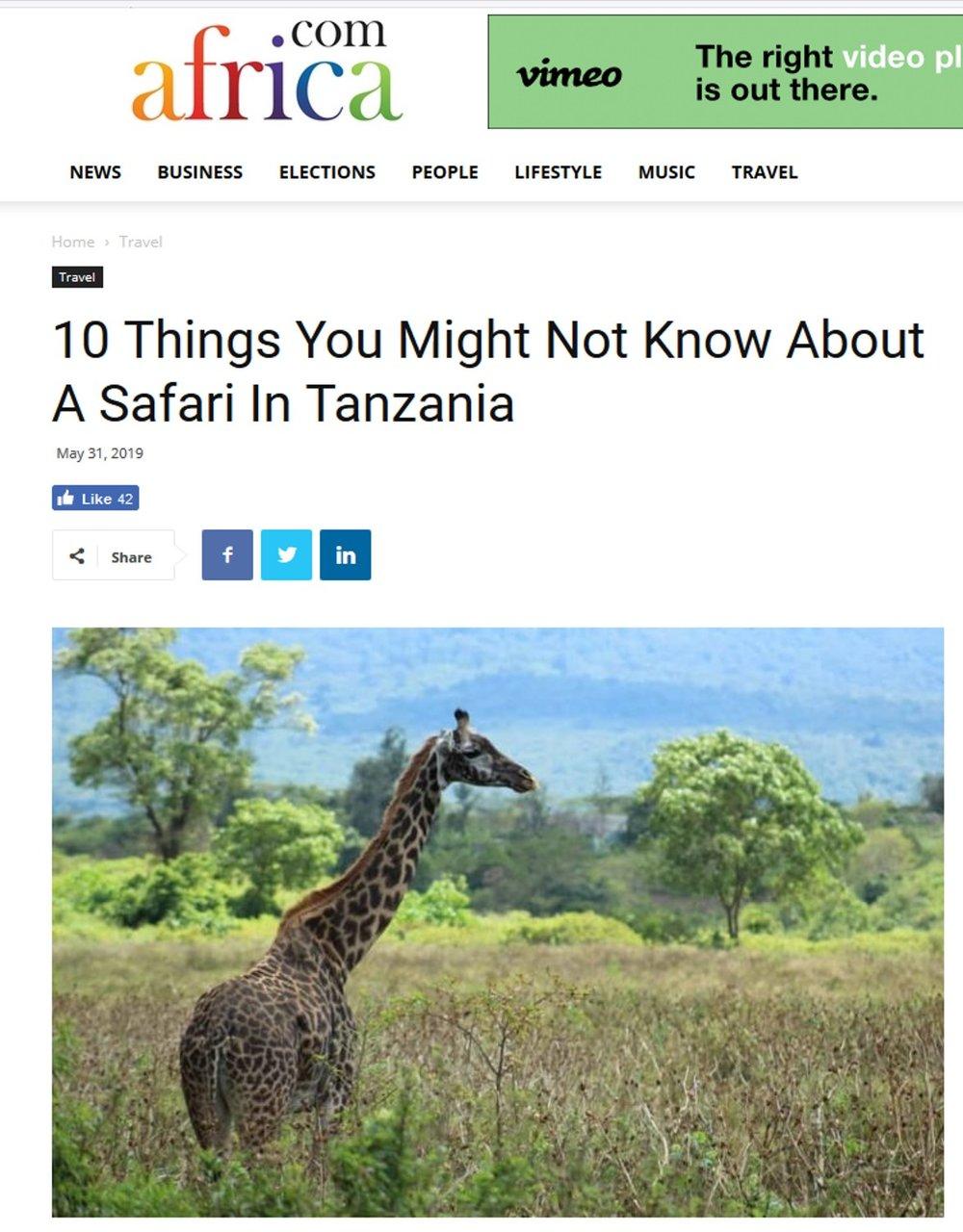 Ein paar nützliche Dinge, die Sie wissen sollten, wenn sie eine Safari in Tansania planen